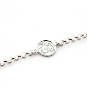 Pulsera Medalla Escapulario RC con cadena (medalla 1,9 cm)