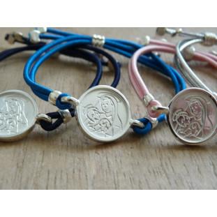 Pulsera Medalla Escapulario modelo PA (medalla 1,5 cm)