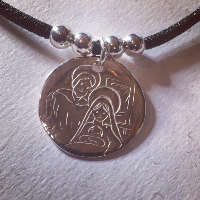 Collar Sagrada Familia (medalla  2 cm )