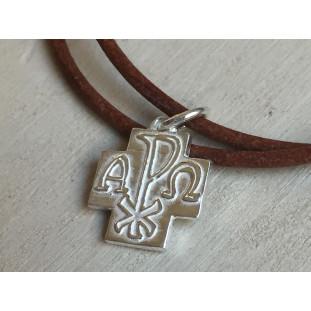 Collar cruz de plata