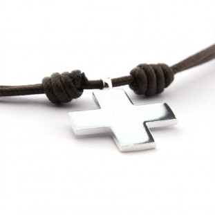 Collar cruz de plata (2,2 x...