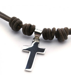 Collar cruz de plata de 2 x3 cm