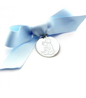 Medalla de cuna Angelito con osito