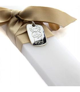 Medalla para cirio de Bautismo