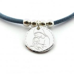 Medalla Virgen rayitas