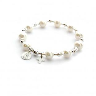 Rosario pulsera de perlas