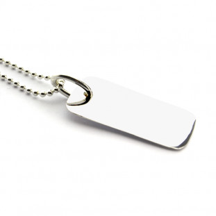 Collar placa rectangular...
